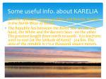 some useful info about karelia