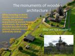 the monuments of wooden architecture