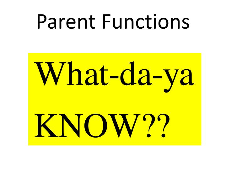 parent functions n.