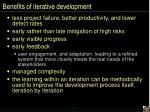 benefits of iterative development