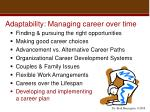 adaptability managing career over time