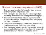 student comments on professor 2008