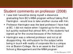 student comments on professor 20081