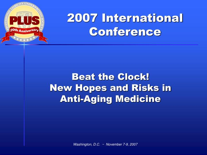 beat the clock new hopes and risks in anti aging medicine n.