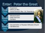 enter peter the great