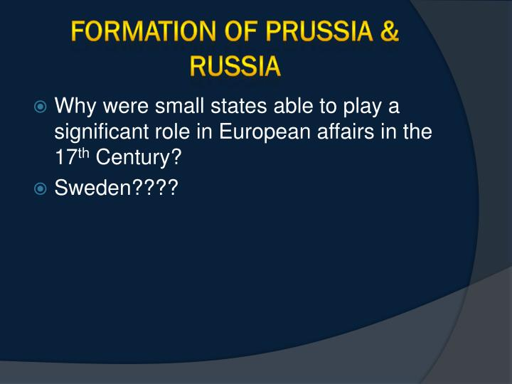 formation of prussia russia n.