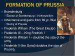 formation of prussia