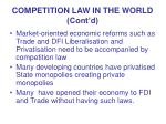 competition law in the world cont d
