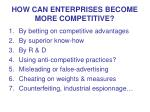 how can enterprises become more competitive