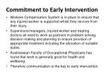commitment to early intervention