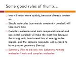 some good rules of thumb