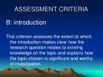 assessment criteria1