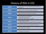 history of rsd in eee