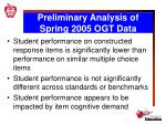 preliminary analysis of spring 2005 ogt data