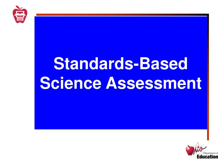 standards based science assessment n.