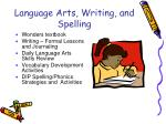 language arts writing and spelling