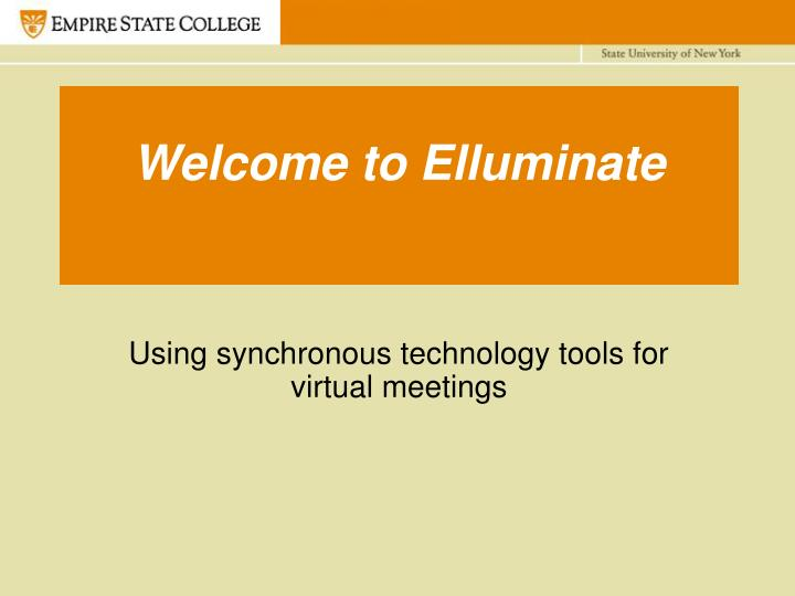 welcome to elluminate n.