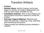transition artifacts