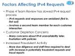 factors affecting ipv4 requests
