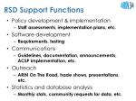 rsd support functions