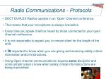 radio communications protocols