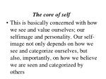 the core of self