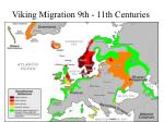 viking migration 9th 11th centuries