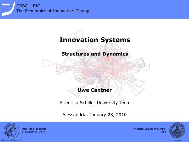 innovation systems structures and dynamics n.