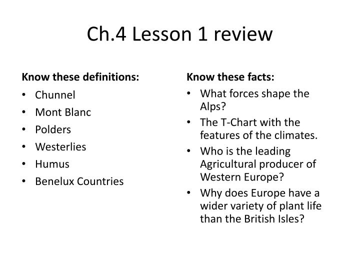 ch 4 lesson 1 review n.