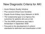 new diagnostic criteria for aki