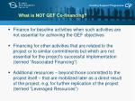 what is not gef co financing