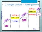 changes of state heating curve
