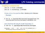 lfc catalog commands1