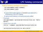 lfc catalog commands3