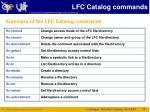 lfc catalog commands5