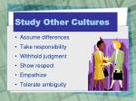 study other cultures