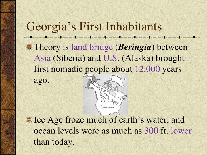 Georgia's First Inhabitants