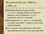 woodland period 1 000 b c 1 000 a d