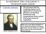 dartmouth college v woodward 1819