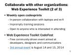 collaborate with other organizations web experience toolkit 2 of 3