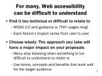 for many w eb accessibility can be difficult to understand