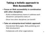 taking a holistic approach to web accessibility1