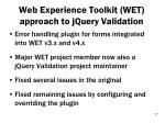 web experience toolkit wet approach to jquery validation