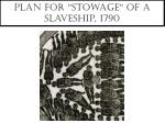 plan for stowage of a slaveship 1790