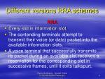 different versions rra schemes