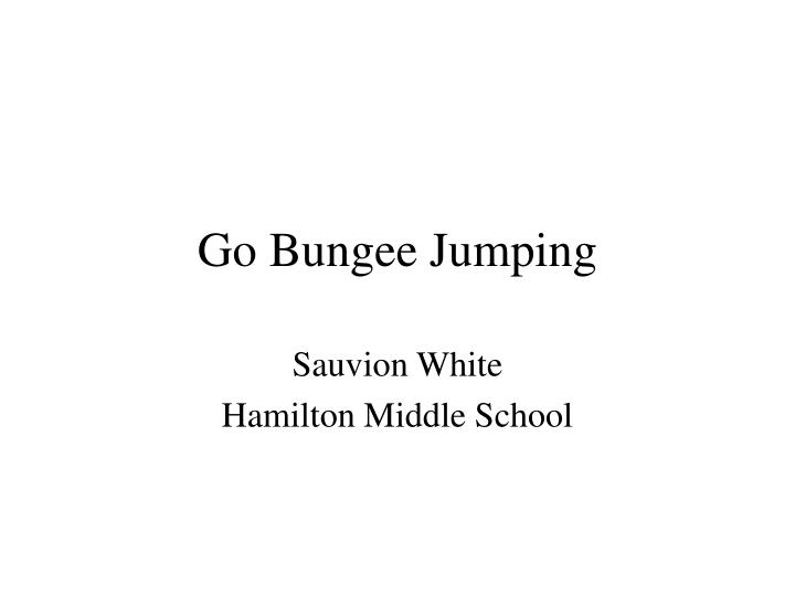 go bungee jumping n.