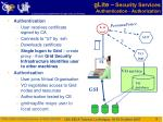 glite security services authentication authorization