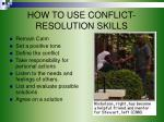 how to use conflict resolution skills