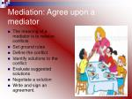 mediation agree upon a mediator