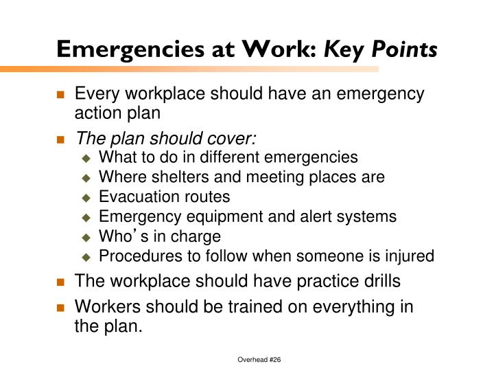 Emergencies at Work: